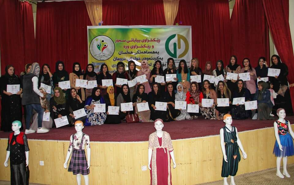 45-Day sewing course for 50 women in Soran District, Erbil together with Wra Organsation