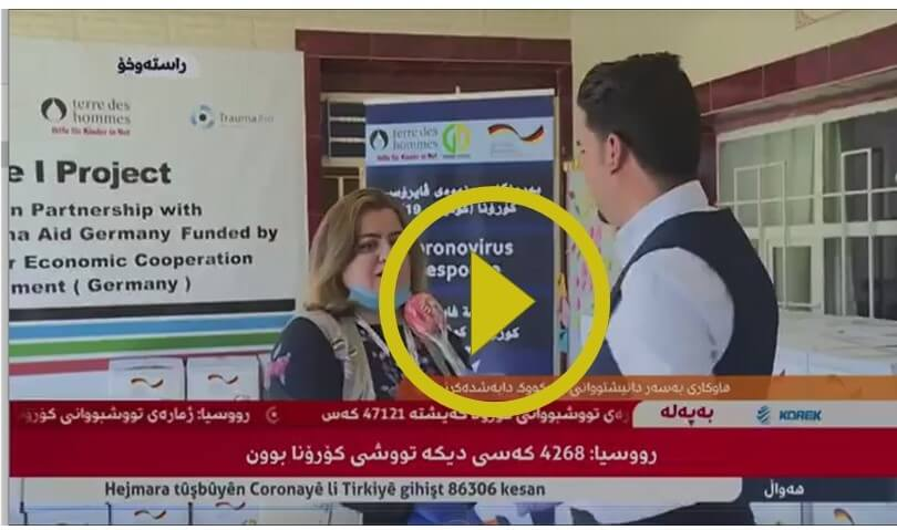 Rudaw Tv live broadcast Kirkuk Food Distribution