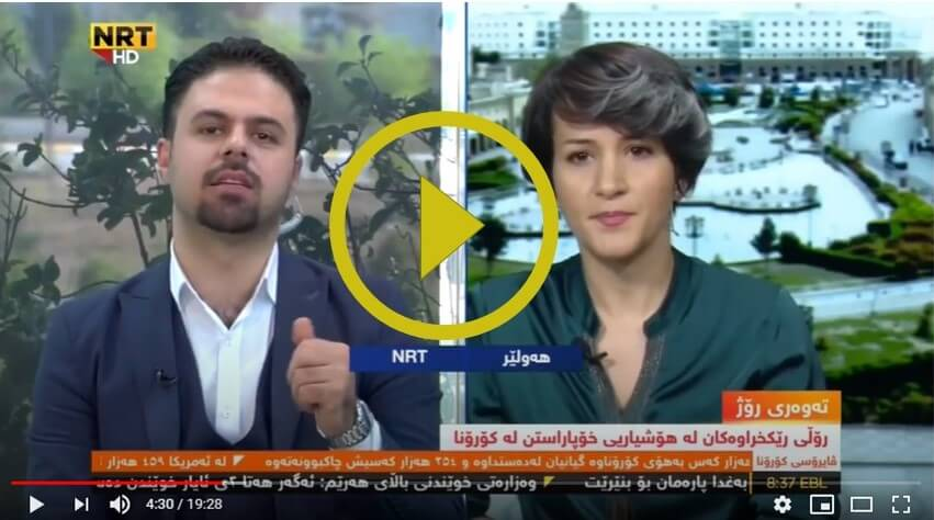 "Sargul Abobaker, the social worker at Green Desert, was hosted at NRT's ""Good Morning Kurdistan"" to discuss Green Desert's Covid-19 interventions in Iraq and Kurdistan."