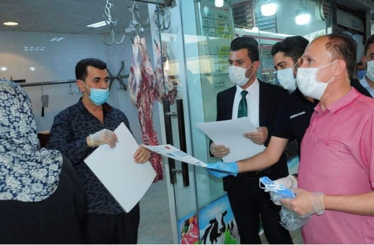 "Green Desert participated in the ""National Self-protection Campaign"" about coronavirus in Erbil city."