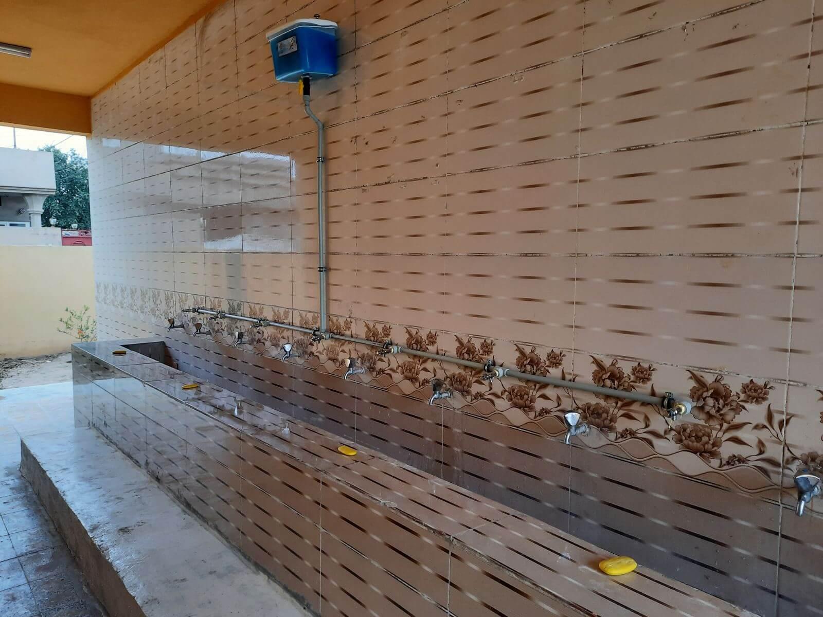 1- Establishing a liquid soap system in schools under cash for work