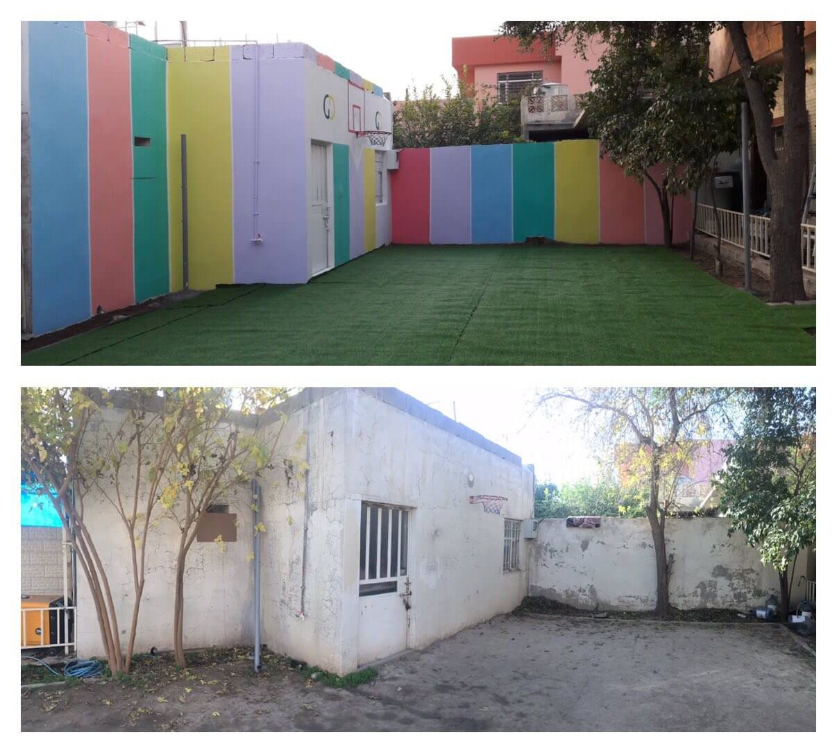 Green Desert continues to rehabilitate and paint schools in the governorates of Erbil, Kirkuk, and Mosul.