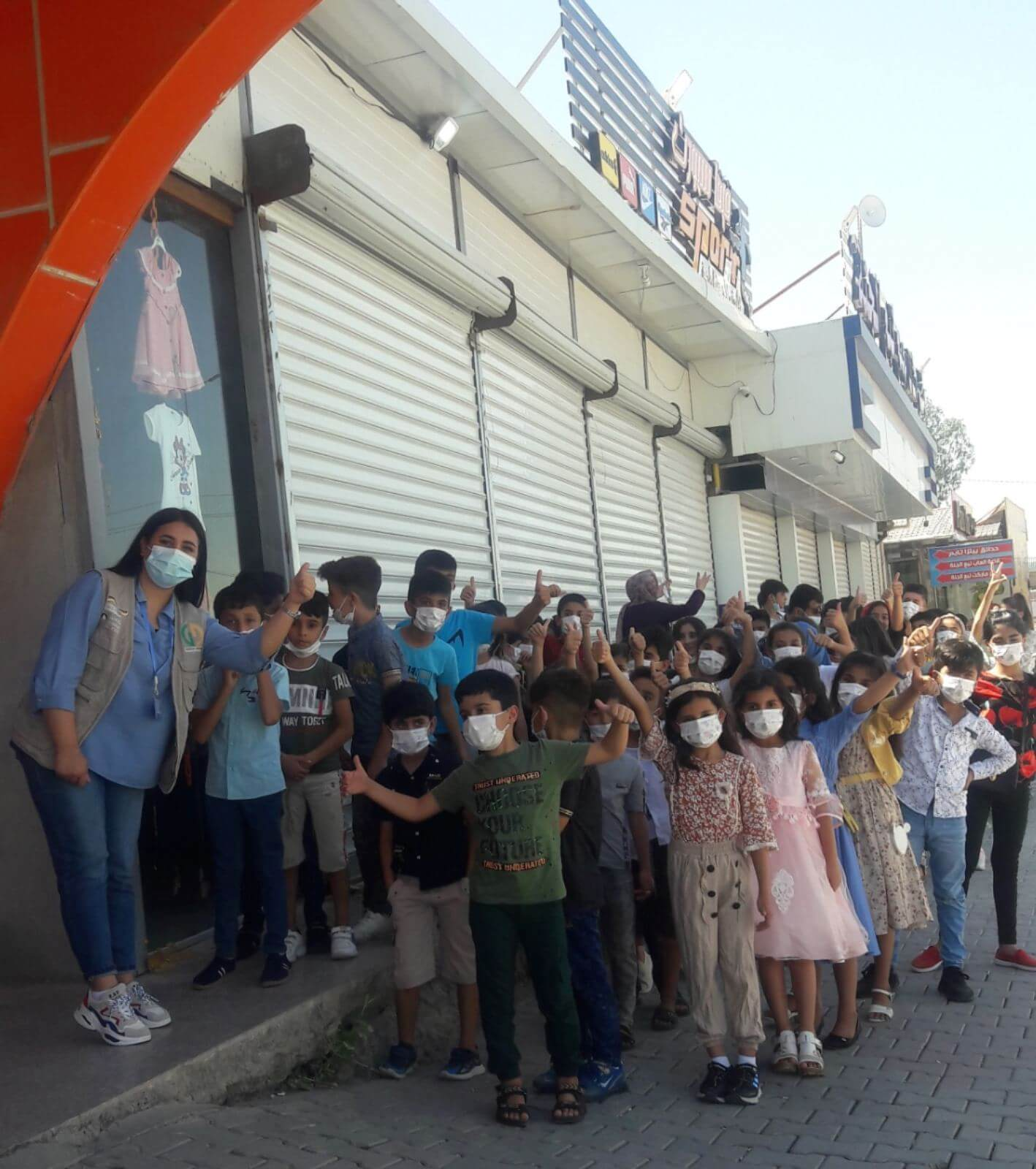 Eid clothes for the children of the Child-Friendly Space in Kirkuk
