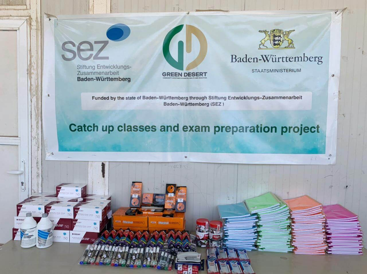 Providing school stationery for 12th-grade students